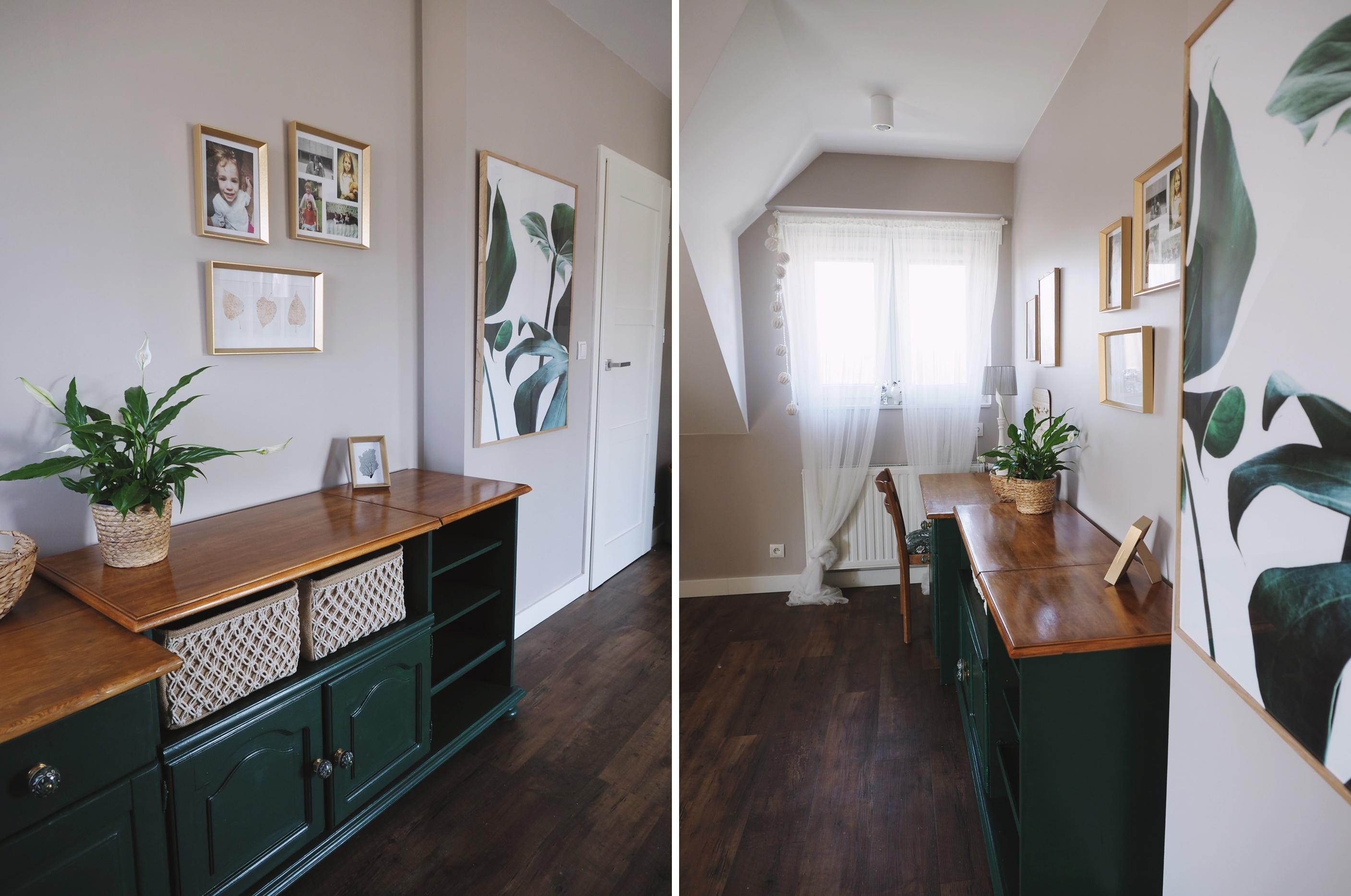 zielone biurko